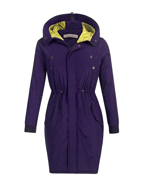 76df8553876e Chigant Damen Wasserfall Knielang Mantel Trenchcoat Cardigan  Übergangsmantel mit Gürtel