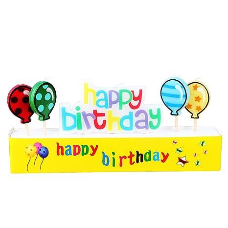 Amazon.com: Funpa - Juego de velas de cumpleaños con forma ...