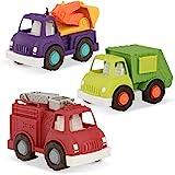Wonder Wheels by Battat – Fire Truck, Recycling Truck, Excavator Truck – Combo of Recycling, Excavator, & Fire Truck…