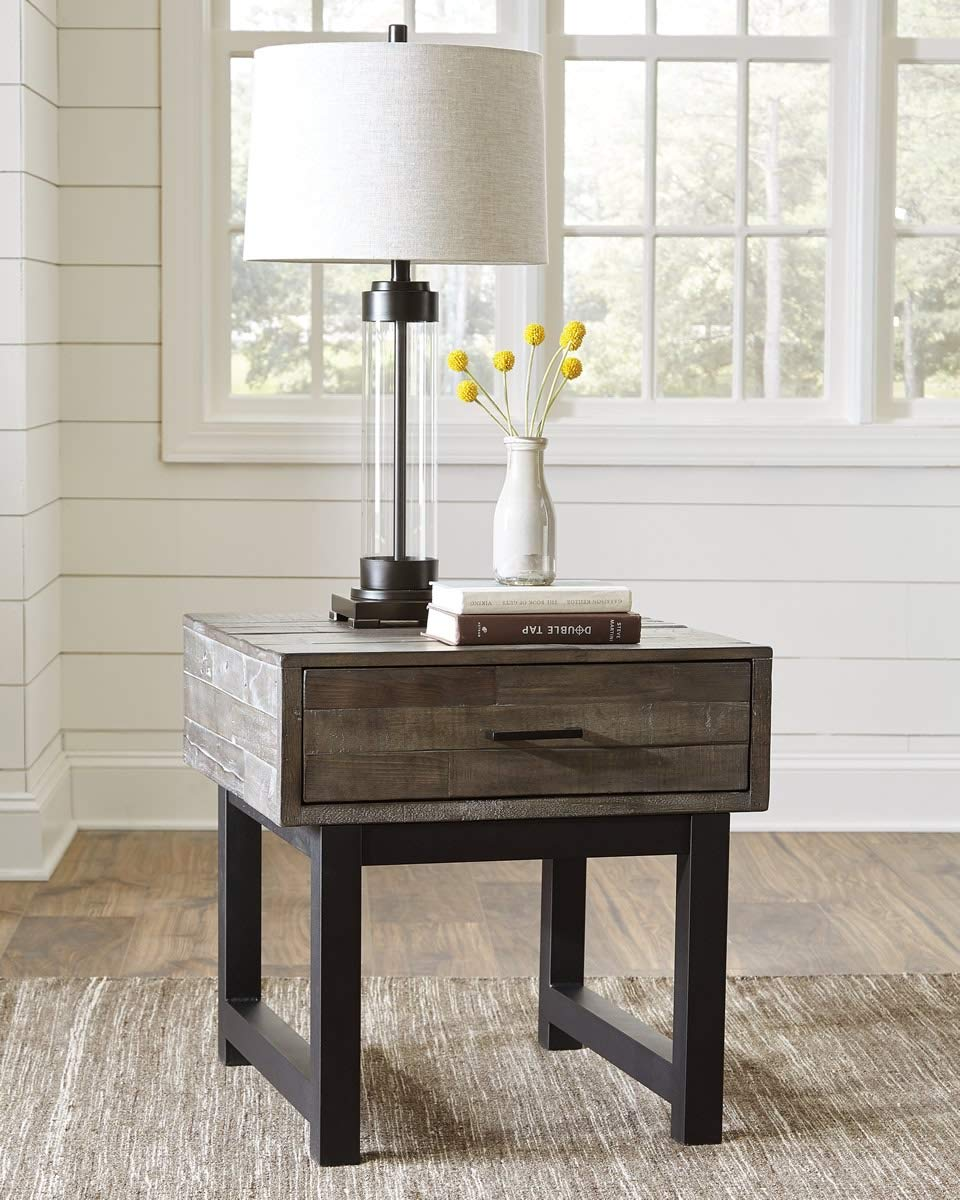 Signature Design by Ashley T891-2 Mondoro End Table Grayish Brown Ashley Furniture