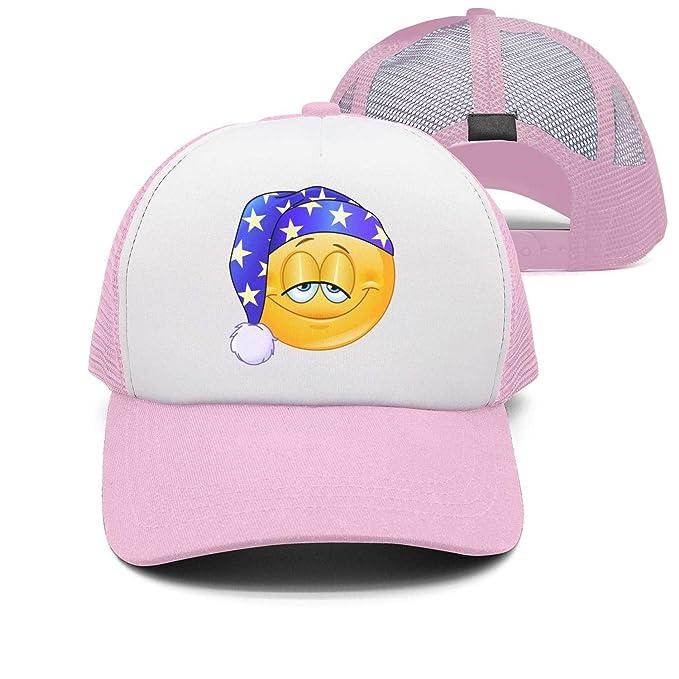 d52729bc32f Amazon.com  ASWEQ Good Night Emoticon Snapback Hats Girls Baseball ...