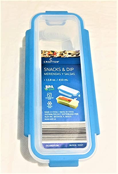 Crofton Snack & Dip Container 13.8oz Turquoise