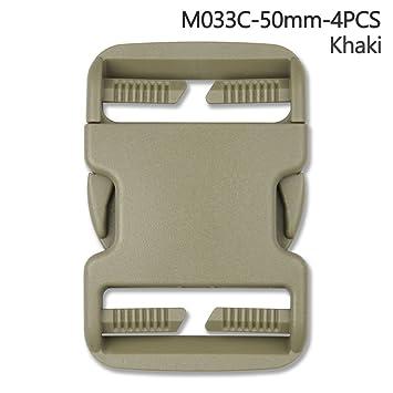 4pcs plástico hebilla Kit de reparación de liberación rápida hebillas para mochila Bolsa, caqui, 50 mm: Amazon.es: Hogar