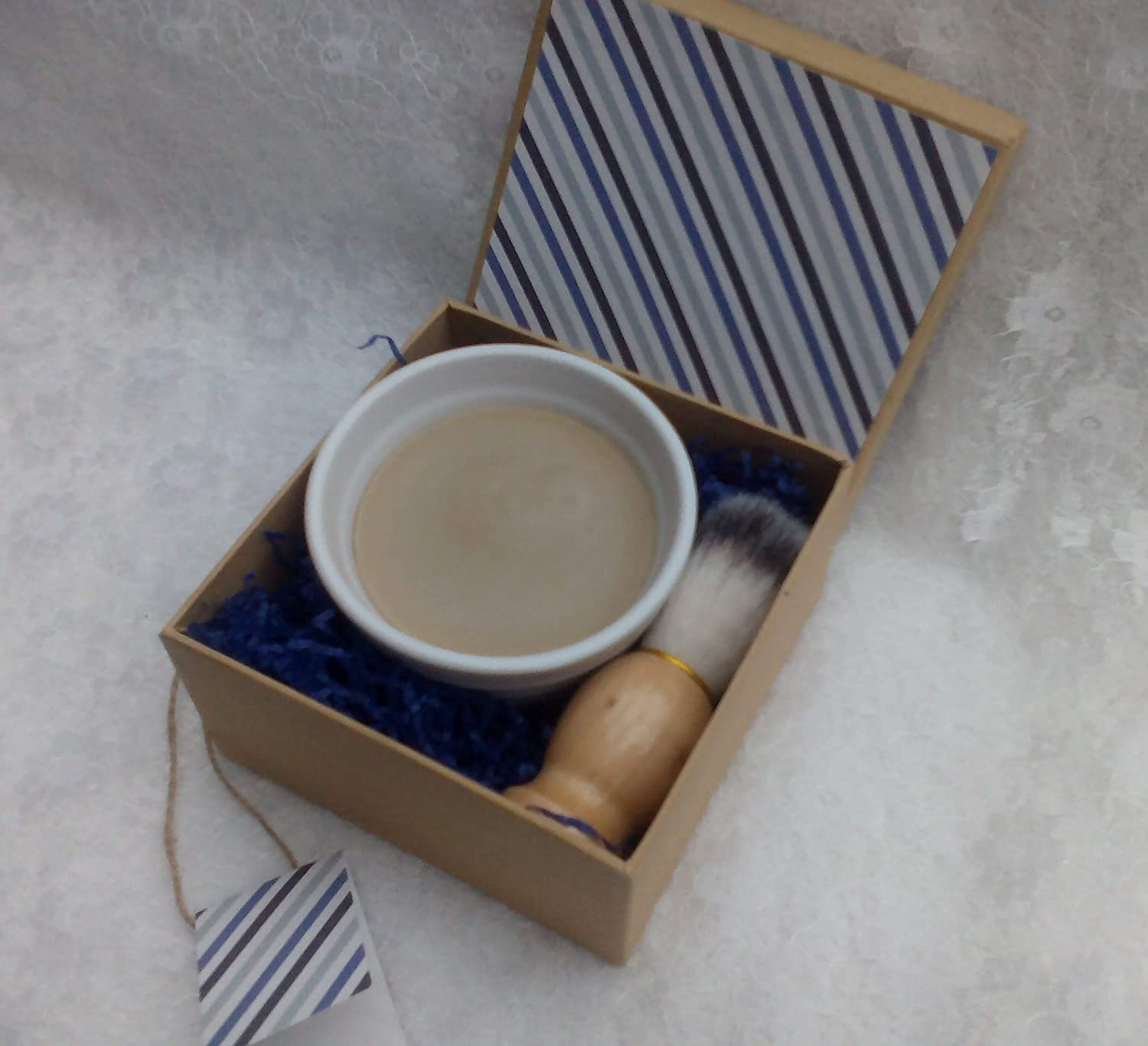 Sandalwood Goats Milk Shaving Soap and Brush Gift Box, by Tilly's Legacy. Traditional Barber's Tallow soap. Palm Oil and SL Free. Gift Boxed, no Plastic by Tilly' s Legacy. Traditional Barber' s Tallow soap. Palm Oil and SL Free. Gift Boxed