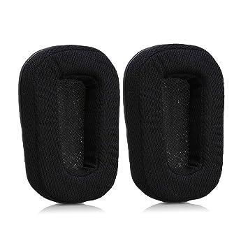 kwmobile 2X Almohadillas para Auriculares Logitech G933 / G633 - Almohadillas de Recambio de Cuero sintético