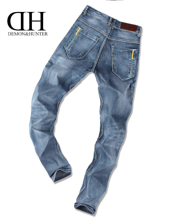 Demon/&Hunter 817 Magro Serie Uomo elasticoizzato Jeans