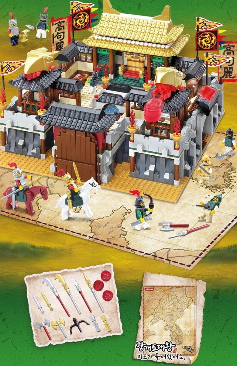 [Oxford] JK34613 Gwanggaeto the Great King Big castle,1308piece / Block