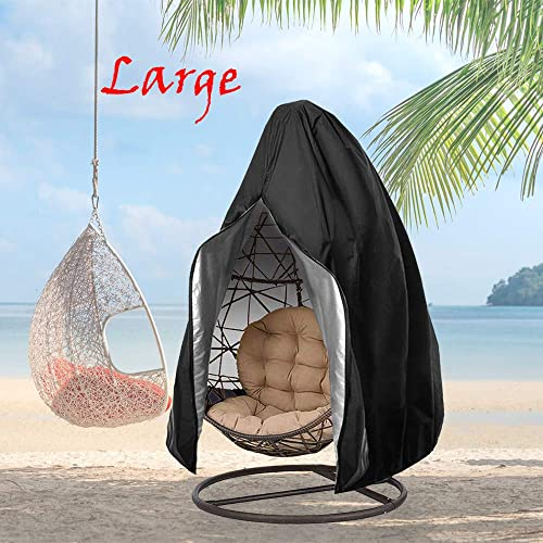 FLYMEI Large Patio Hanging Chair Covers, Wicker Egg Swing Chair Covers 91 X 80 , Heavy Duty Weather Resisatnt Outdoor Chair Covers