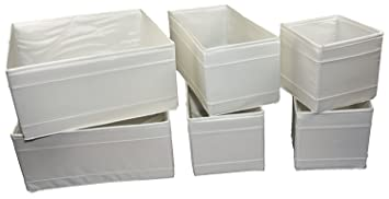 IKEA SKUBB - Box, set of 6, white by Ikea