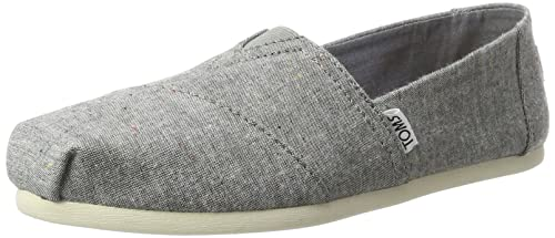 ed2015aaba TOMS Women's Chambray Seasonal Classics Alpargata Low-Top Slippers, Black  (Black Multi Speckle