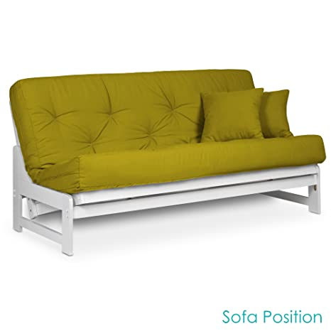 Brilliant Nirvana Futons Arden Armless White Wood Futon Frame Queen Size Solid Hardwood Sofa Bed Frame Construction Space Saving Design Ideal For Rv Small Alphanode Cool Chair Designs And Ideas Alphanodeonline