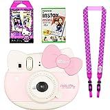 Fujifilm Instax Mini Hello Kitty Instant Camera Set! with Instax Mini Film Twin Pack (20 Shoots) + Hello Kitty Film (10 Shoots) + Shoulder Strap + Stickers