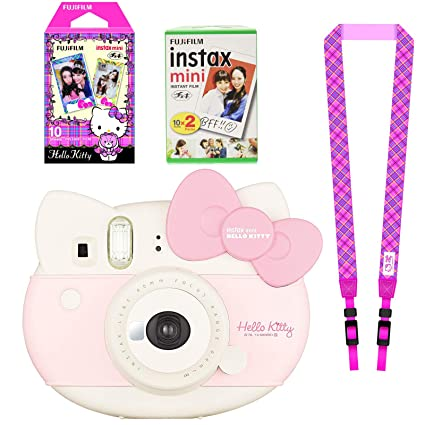 "6aca1486d Fujifilm Instax Mini ""Hello Kitty"" Instant Camera Set with Instax  Mini Film,"