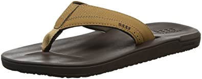 Reef Men's Contoured Cushion Sandal, Brown, ...