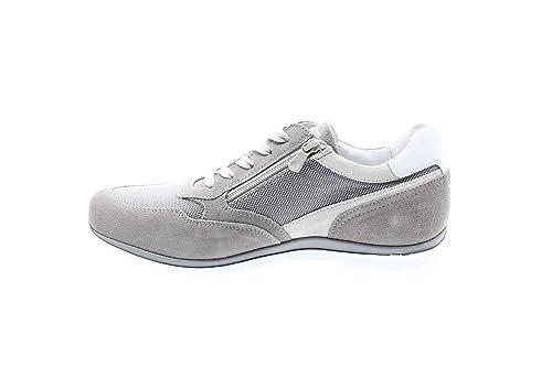 5fb9e61385 Nero Giardini P900840U/106 Sneakers Scarpe Sportive Uomo Lacci Stringhe Zip  Fumo