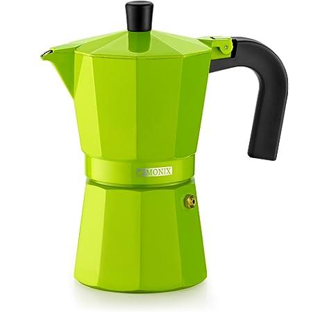 Monix M301706 M301706-Cafetera Italiana, 6 Tazas, Color Cobalto, Aluminio, 10 cm: Amazon.es: Hogar