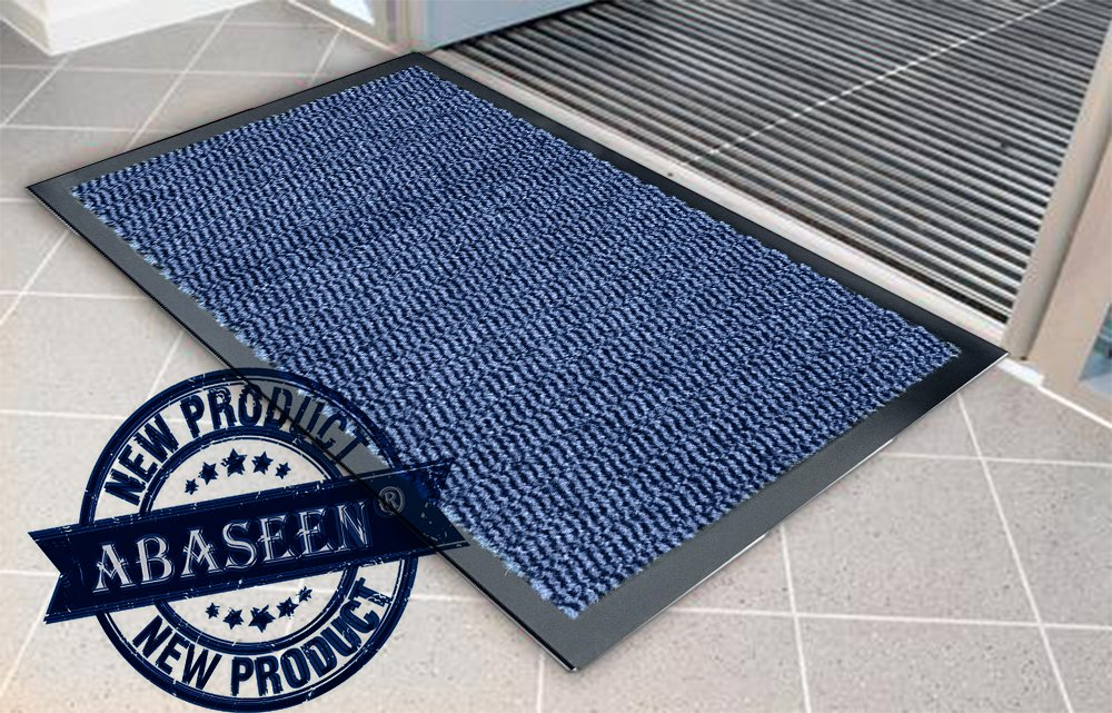 Abaseen Anti-Skid Back Large Small Barrier Door Mat Mats Runners (Black, 50x80cm)