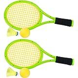 Crefotu Kid Tennis Racket,Plastic Racquet Toys for Children Outdoor/Indoor Sport, Packing with Shoulder Strap