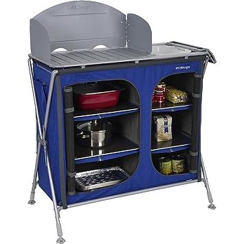 Berger Campingküche Küchenbox Pablo Premium, blau, Arbeitshöhe 97 cm ...