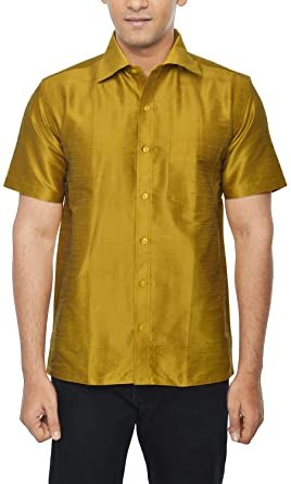 d875dab1ee222 KENRICH Men s Silk Casual Shirt  Amazon.in  Clothing   Accessories