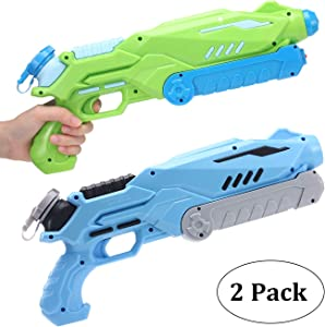 AiTuiTui Water Gun for Kids Adult , 2 Pack 750CC Super Water Soaker Blaster Powerful Squirt Guns for Outdoor Swimming Pool Beach Sand Water Fighting Summer Toys Presents
