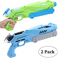 AiTuiTui 2 Pack Water Gun Super Soaker 750ML, Long Range 32FT Water Pistols for Kids Adults, Powerful Water Blaster…