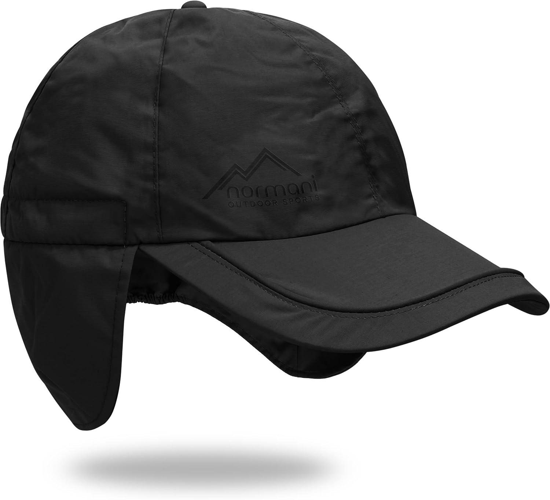 77cea365ebf normani Regenmütze Cap verstellbar mit Ohrenschutz 100% Wasserdicht ...