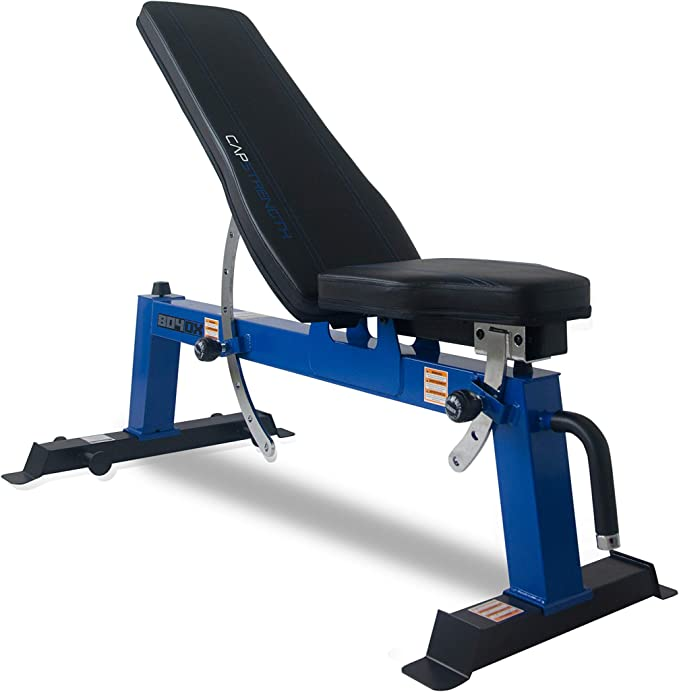 Amazon.com : CAP Barbell Deluxe Utility Weight Bench, Blue (FM-CS804DX-BL) : Sports & Outdoors