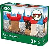 Brio - 33254 - Circuits de train en bois - Supports stables décorés