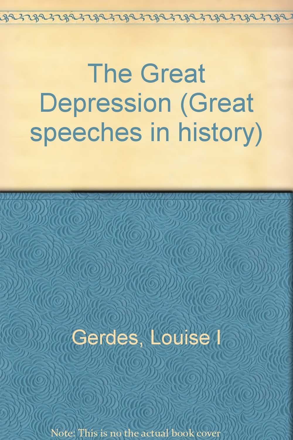 Read Online The Great Depression (Great Speeches in History) pdf