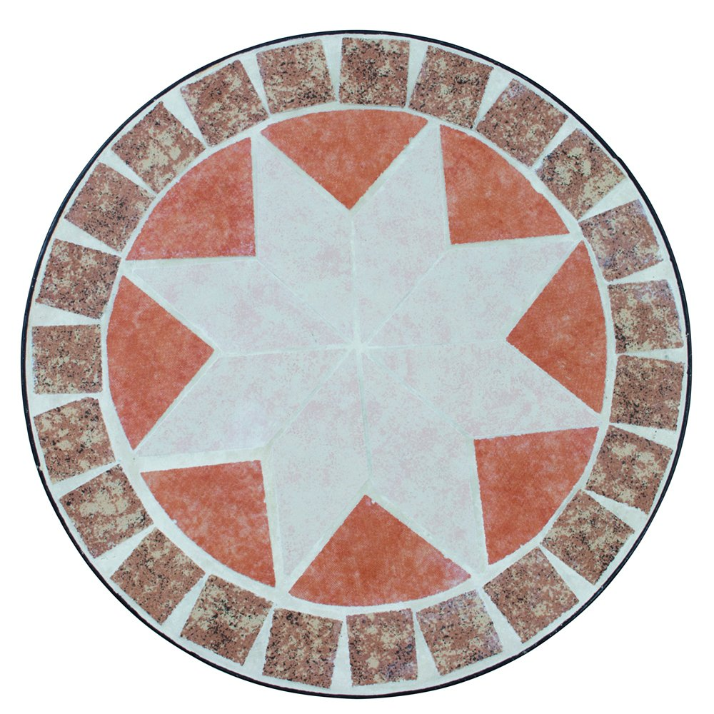 Siena Garden Blumenhocker Set Finca rund, rund, rund, 3-teilig Metall Mosai, Durchmesser 22 x 49 cm   25 x 59 cm   29 x 69 cm, schwarz c1cfaa