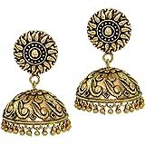 Jaipur Mart Jhumki Earrings for Women (Golden)(GSE274GLD)