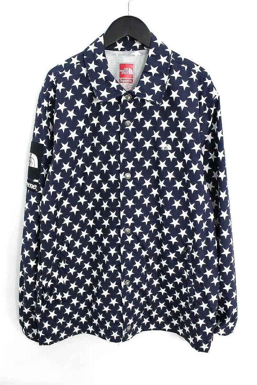 (シュプリーム) SUPREME ×ノースフェイス/THE NORTH FACE 【15SS】【Packable Waterproof Coache Jacket】パッカブルコーチジャケット(M/ネイビー×ホワイト) 中古 B07F1JFGXC  -