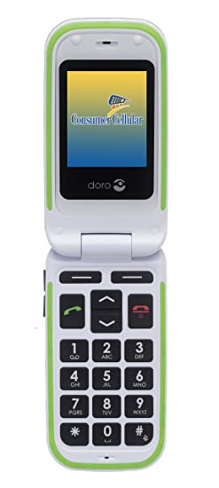Amazon com: Doro 410 Black Phone with Consumer Cellular Service (No