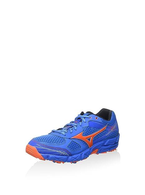 Mizuno Zapatillas de Running Wave Kien 2 Azul Índigo/Naranja EU 44.5 (US 11): Amazon.es: Zapatos y complementos