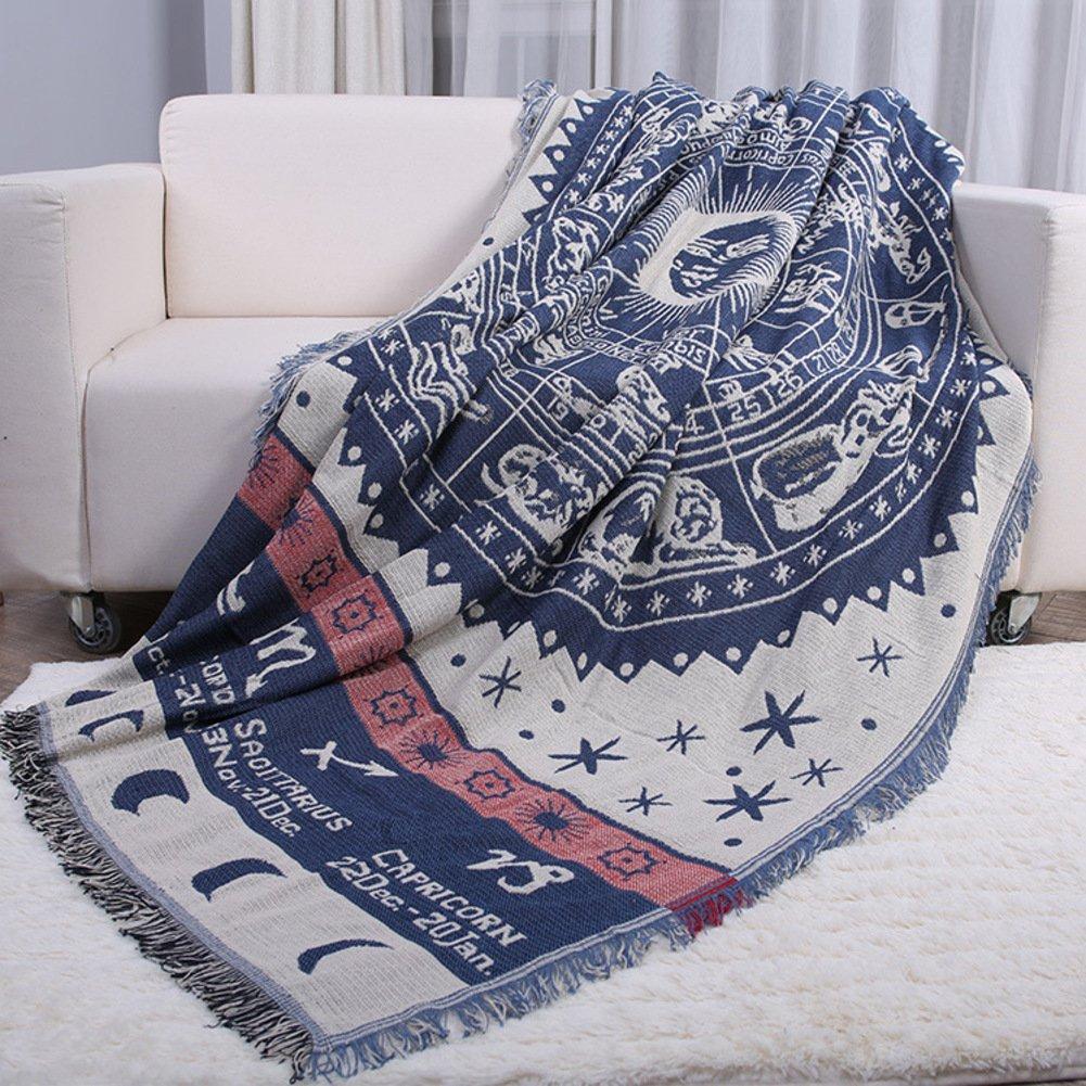 WYSMao Folk-Custom Throws for Sofa,Sofa slipcovers Sofa Blanket Bay Window Blanket Carpet for 1,2,3,4 Cushion Covers-Furniture Protector-A 230x280cm(91x110inch)
