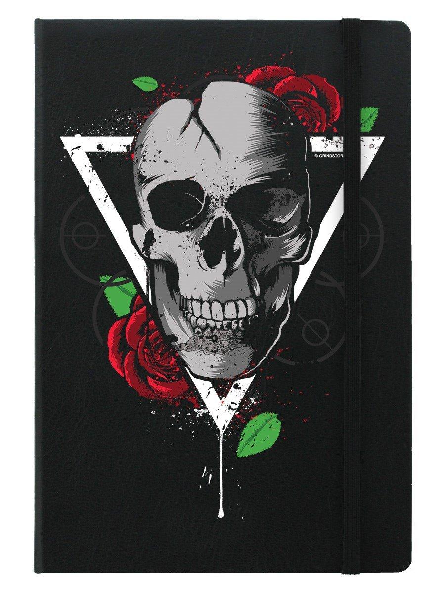 Blocco note A5 con copertina rigida Skull Trinity in nero 14 x 21 cm Grindstore