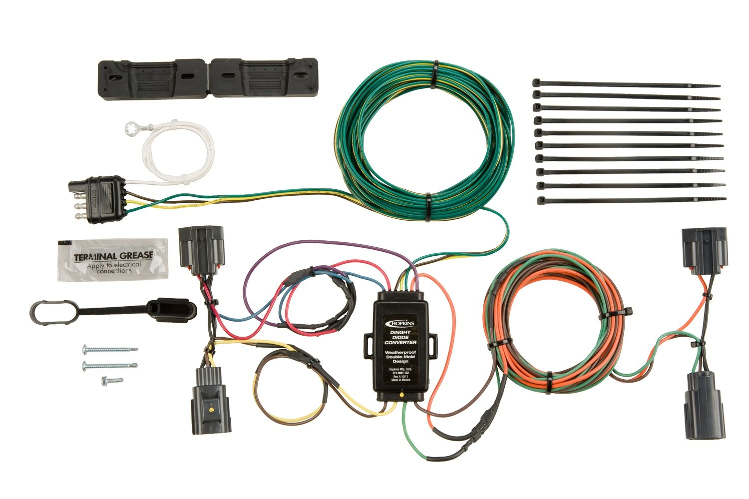 Hopkins 56200 Plug In Simple Towed Vehicle Wiring Kit California Trailer Diagram Automotive