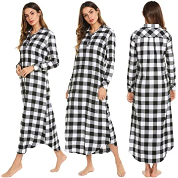 Jingjing1 Women Long Sleeve Hoodie Sleepwear Zip-Front A-line Bathrobe Long Robe