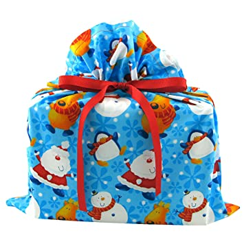 Amazon.com: Polo Norte Buddies reutilizable de Navidad bolsa ...
