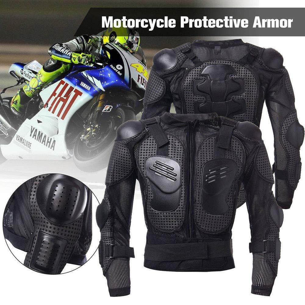 Ropa Protectora de Cuerpo Armadura Completo Profesional KKmoon Chaqueta de Moto,Chaqueta Protectora Motocross
