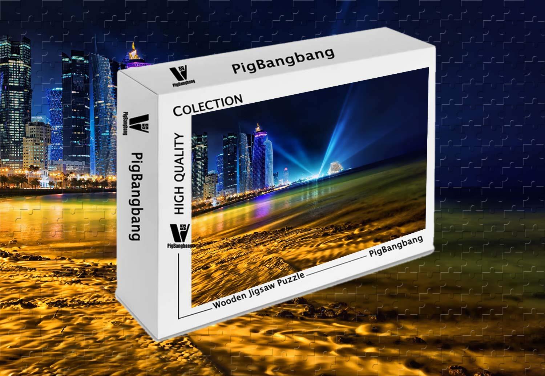 オリジナル PigBangbang、Intellectiv バスウッド Games バスウッド 22.6インチ) カラフル- Qatar ジグソーパズル Shining - 1500ピース ジグソーパズル (34.4 X 22.6インチ) B07J4PQLR5, 多摩区:13e80535 --- sinefi.org.br
