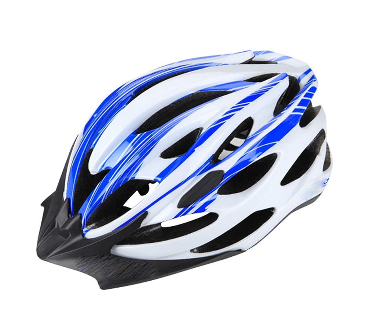 Casco Bicicleta 24 ventilaciones Talla L AZUL BLANCO HOMOLOGADO ...