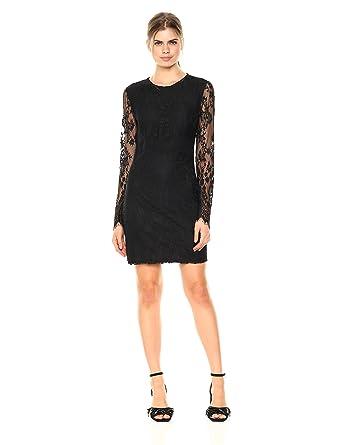 c098633fae Amazon.com  Wild Meadow Women s Stretch Lace Mini Dress S Black  Clothing