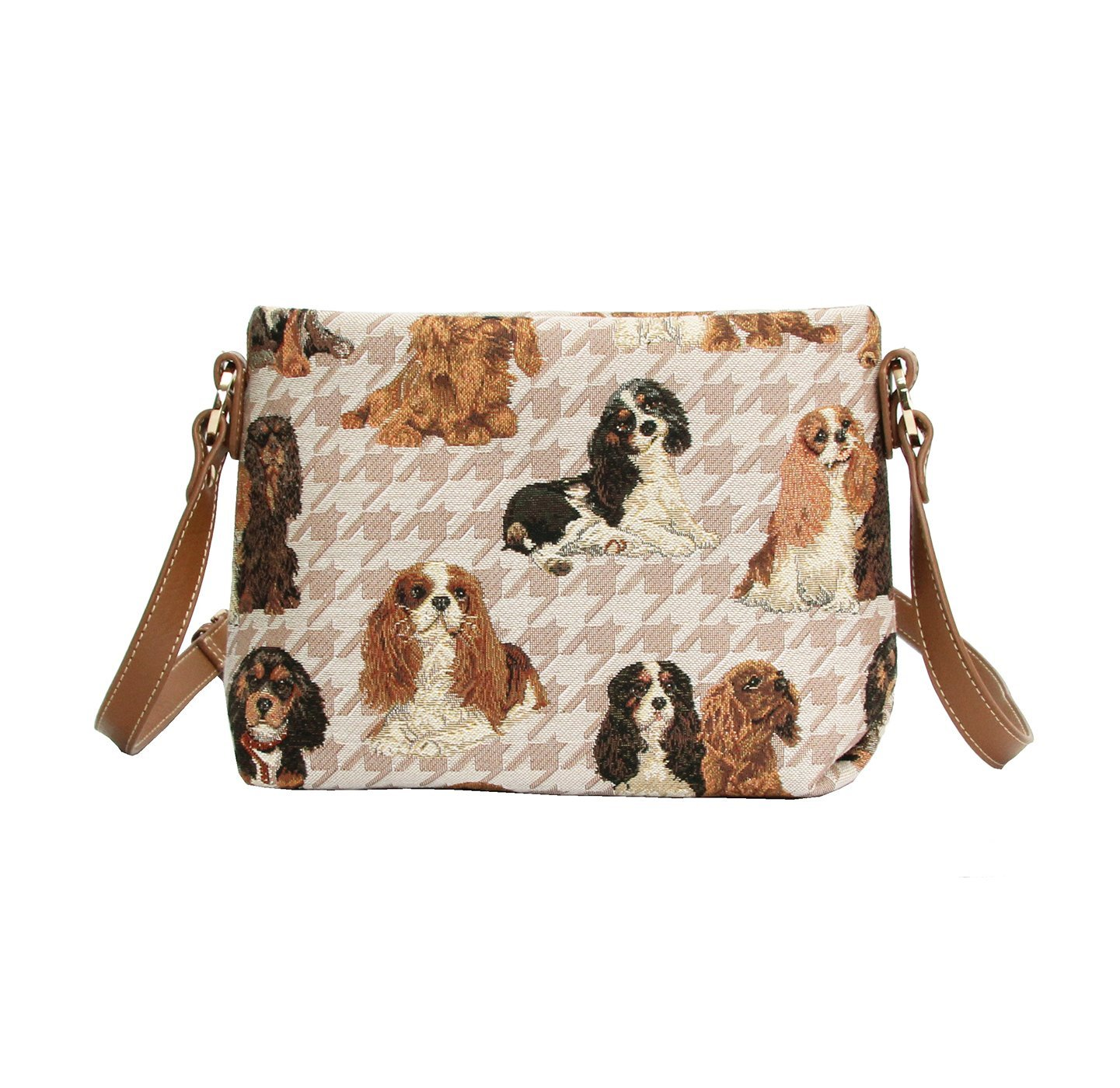 Signare Womens Tapestry Fashion Shoulder Handbag Across Body Bag in Cavalier King Charles Spaniel Dog