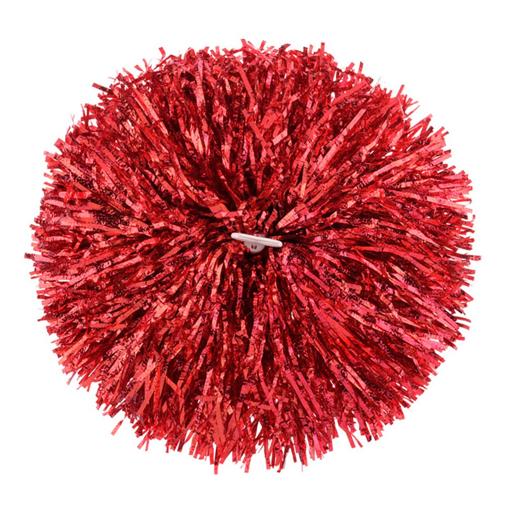 Fodattm 2 Pcs Pom-Pom Girl de Boule de Danse de Fête Sports Pompons Feuille Métallique Cheerleader Pompons Sports Party Accessoires pour Football Basket-Ball Cheers