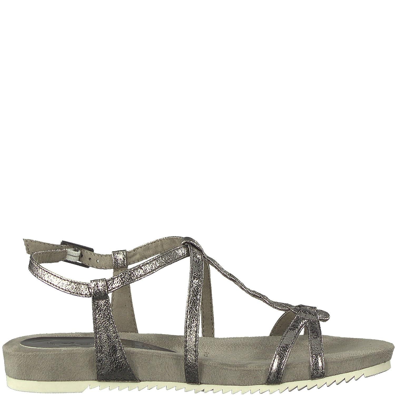 Tamaris Ladies Sandals 1 28391 20 220 Cloud Pewter Gray