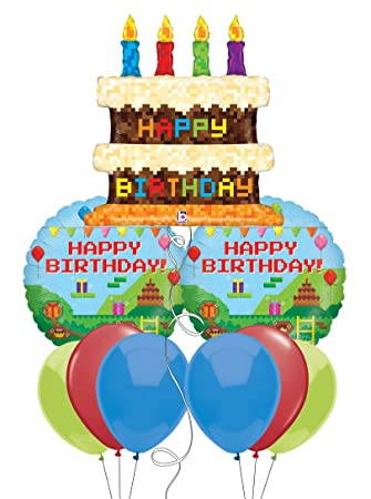 Image Unavailable Not Available For Color Pixel Craft Happy Birthday Cake Balloon Bouquet