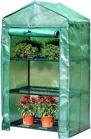 Invernaderos Plastico huerto terraza Miniatura: Las Plantas de Cultivo de jardín Crecen en casa con la Puerta Enrollable y la Cubierta Reforzada de PE para el Control de la Temperatura,: Amazon.es: Hogar