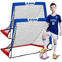 Hekaton Soccer Goals, Portable Soccer Goal for Kids for Backyard, Toddler Soccer Goal Set of 2 with Carry Case, 3.5'/ 5…
